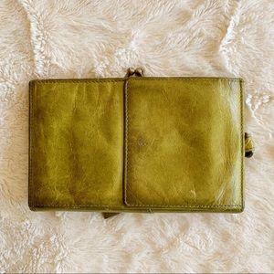 Hobo Green Clutch Open Wallet